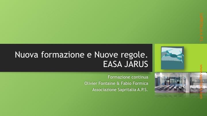 convegno-sapritalia-toolboox-torino-regole-regolamento europeo sapr-droni-easa-jarus