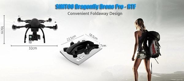 simtoo dragonfly pro-recensione-4k-dimensioni-rtf-gps-funzioni