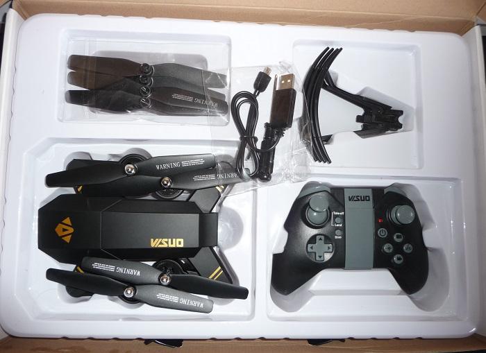 confezione visuo tianqu xs809w-mavic economico-drone giocattolo-drone camera