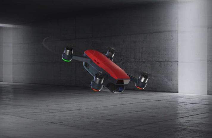 prova di volo dji spark-contenuto confenzione spark-drone per selfie-droni con camera hd