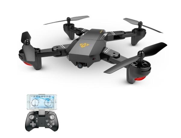 recensione viso xs809w-drone economico-copia dji mavic
