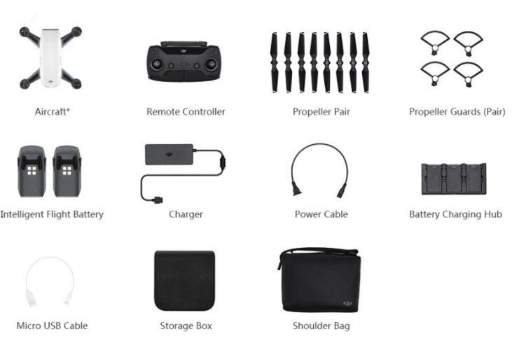 unboxing dji spark-contenuto confenzione spark-drone per selfie-droni con camera hd