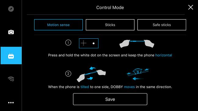 modalità volo Zerotech Dobby-contenuto della confezione drone dobby-contenuto