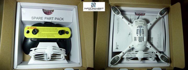 contenuto confenzione hubsan x4 desire h502e banggood- drone con gps- drone camera hd