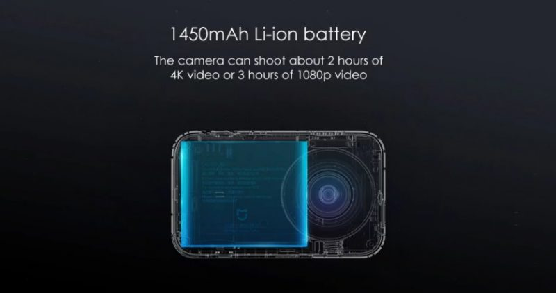 batteria xiaomi mijia 4k-miglior action cam economica