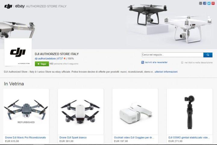 DJI STORE SU EBAY-dji ebay-dji droni ricondizionati-ebay dji-store dji ebay