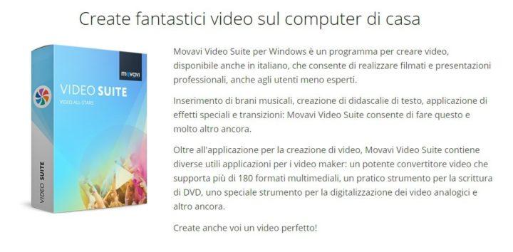 Movavi video suite un programma per creare video e non for Programma per creare
