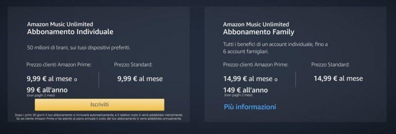 abbonamento Amazon music unlimited-servizio di musica digitale-musica senza limiti