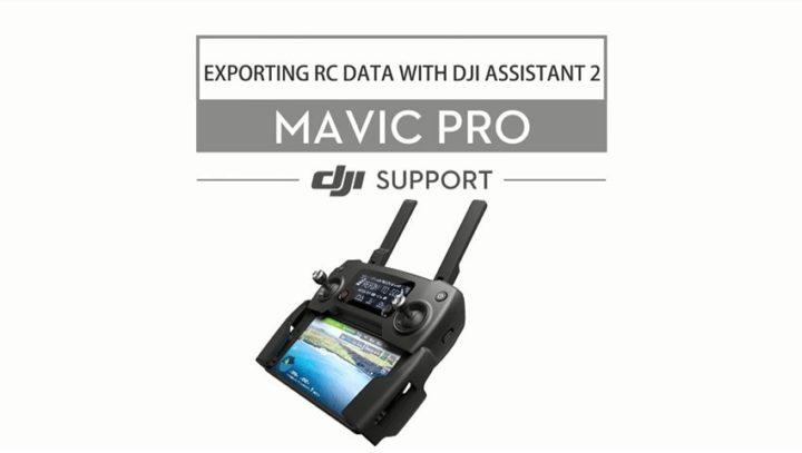 Come esportare i dati rc dal DJI Mavic Pro