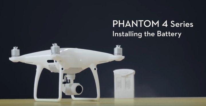 Come inserire la batteria nel drone DJI Phantom 4