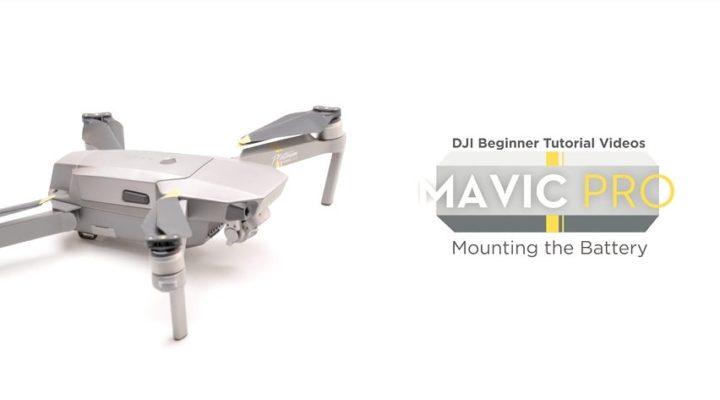 Come montare la batteria nel drone dji mavic pro