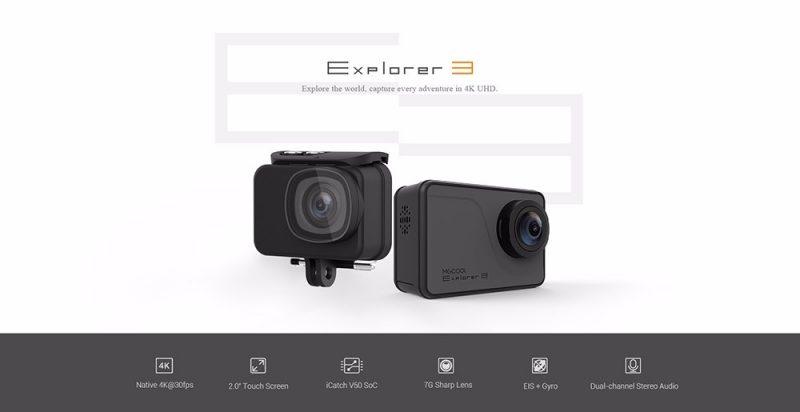 MGCOOL Explorer 3 Action Cam Caratteristiche