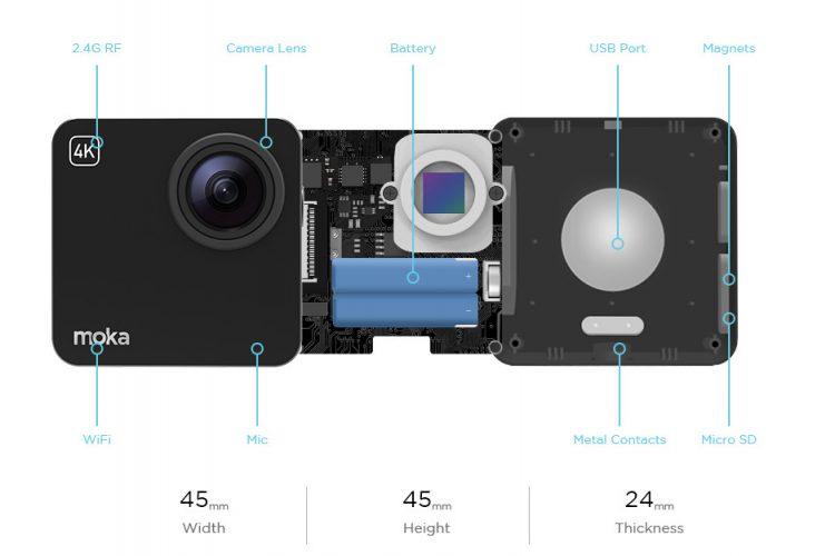 Mokacam 4K caratteristiche