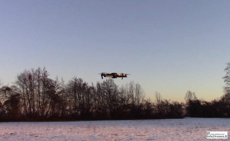 prova di volo Eachine e58-il drone clone dji mavic pro