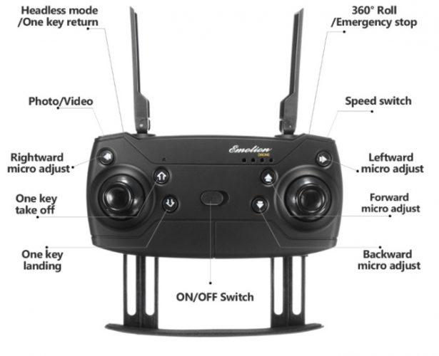 radiocomando Eachine e58- drone clone dji mavic pro