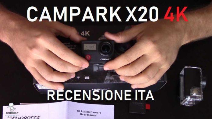 CAMPARK X20 4K RECENSIONE Italiana completa