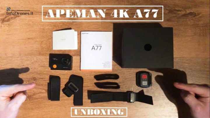 video Apeman 4k a77 youtube