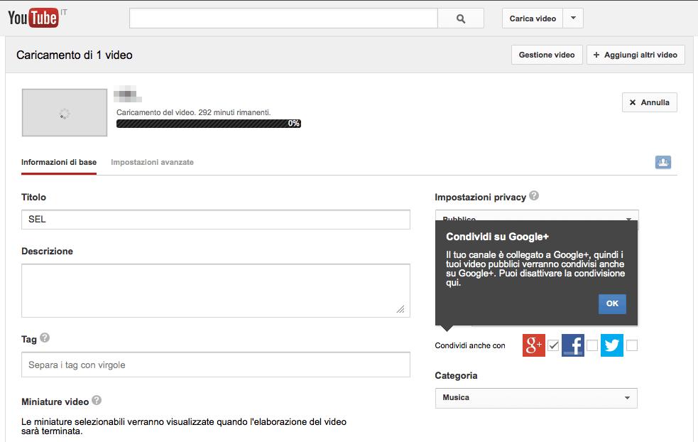 Come caricare un video su YouTube