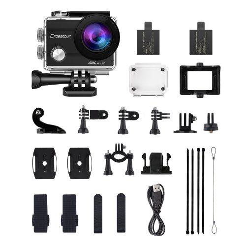 Crosstour 4k 16 MP action camera-contenuto confezione