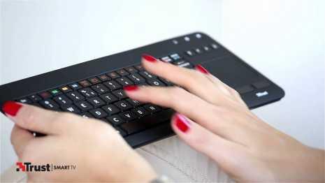 Fare chiocciola su tastiera trust per smart tv