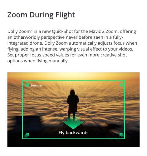 DJI Mavic 2 Zoom funzioni