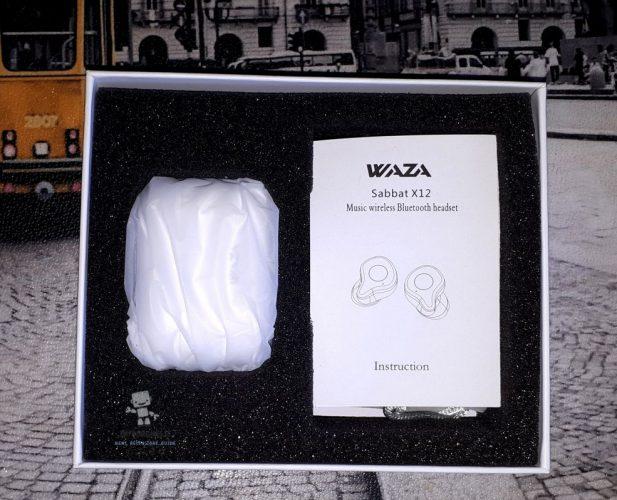 Waza X12 auricolari Bluetooth contenuto confezione