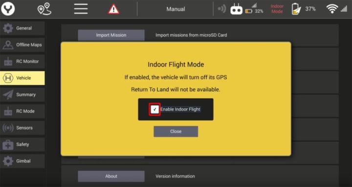 Yuneec Typhoon H520 volo indoor video guida