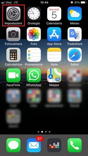 Configurazione Iliad Iphone