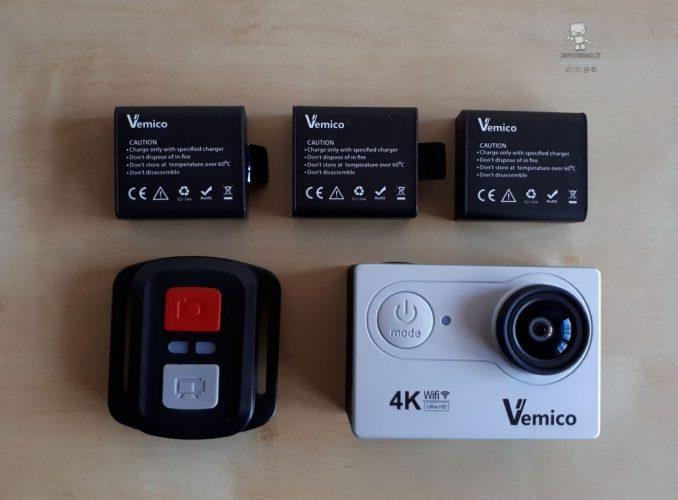 Recensione Vemico 4K V2.0 -batterie