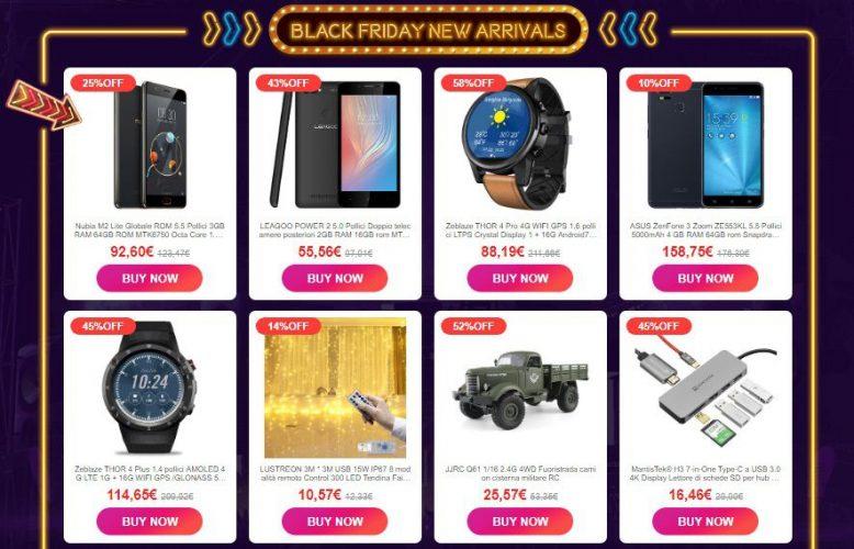 Black Friday 2018 Banggood-nuovi arrivi