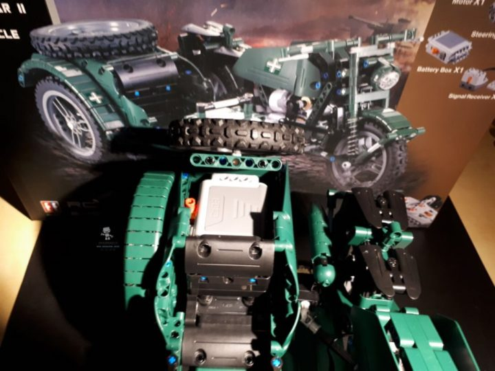 Recensione DOUBLE E C51021W World War II Military Motorcycle RC Toy (24)