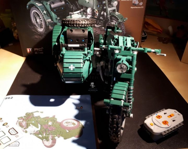 Recensione DOUBLE E C51021W World War II Military Motorcycle RC Toy (31)