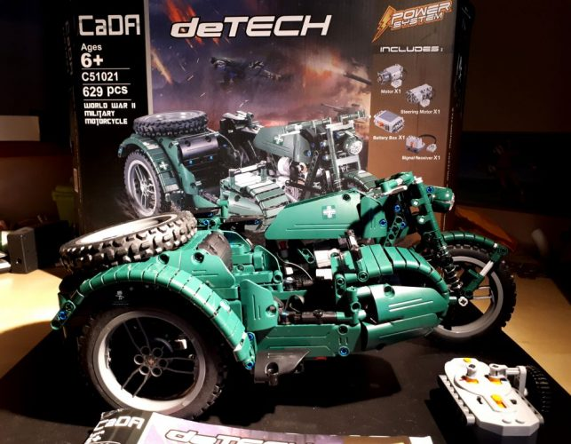 Recensione DOUBLE E C51021W World War II Military Motorcycle RC Toy (41)
