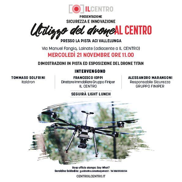 Utilizzo del Drone-presentazione del drone nel mall più grande d'Italia