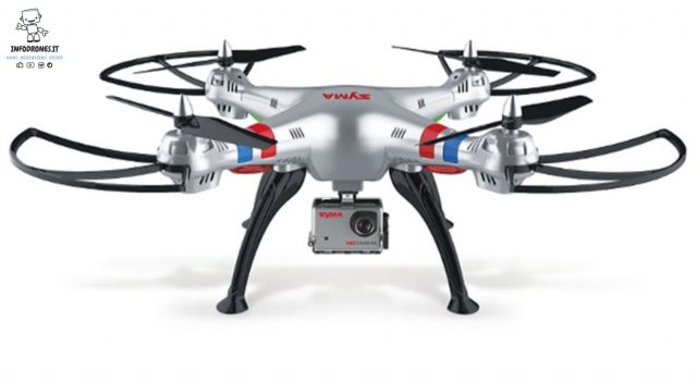 drone economico per action cam
