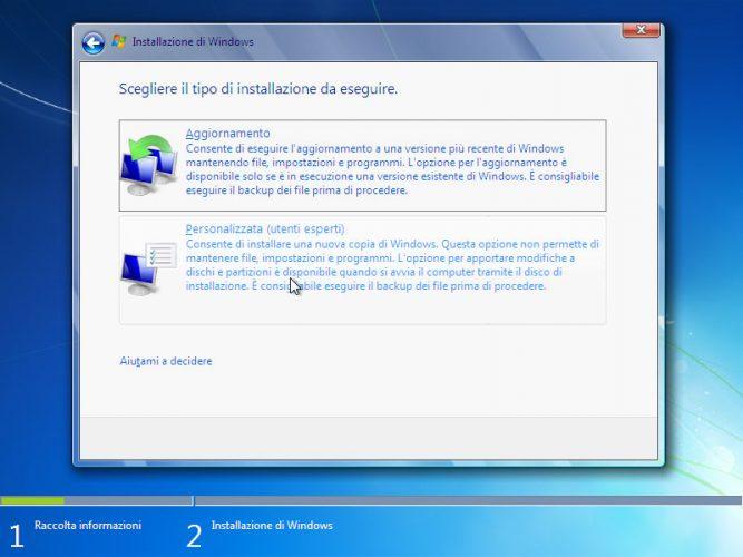 Come installare Windows 7