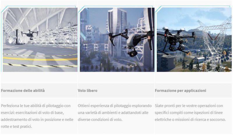 simulatore drone dji-DJI Flight Simulator funzioni-nuovo simulatore DJI