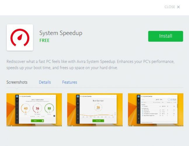 AVIRA system speedup 9