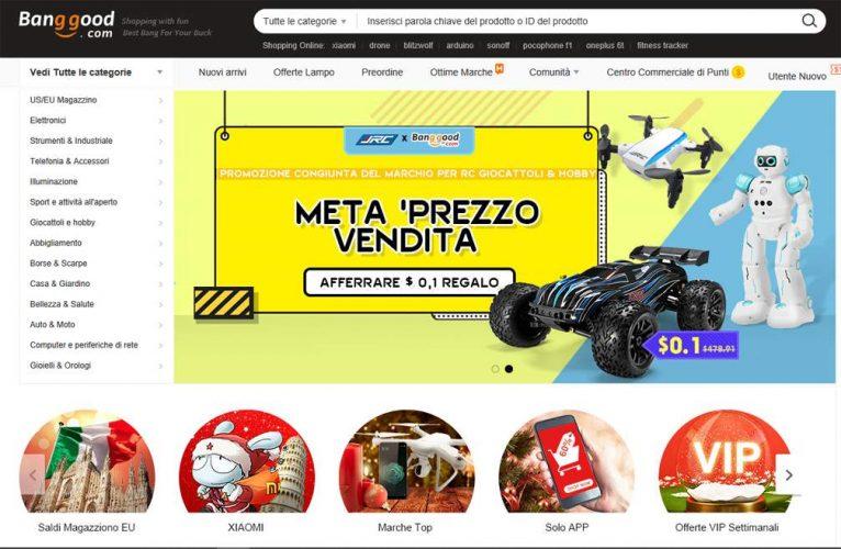 Un altro sito cinese affidabile e largamente utilizzato è senza dubbio  Banggood. Molto utilizzato in Italia 61636fd7894