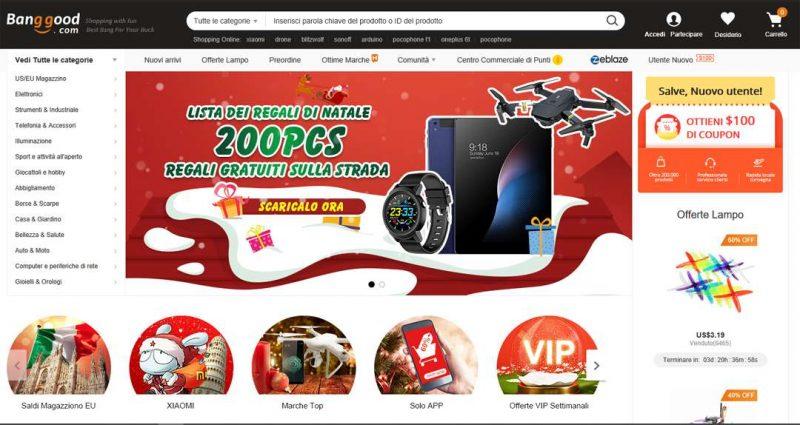 Siti vendita Online Cinesi banggood