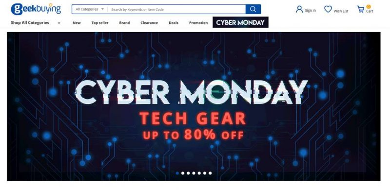 Siti vendita Online Cinesi geekbuying