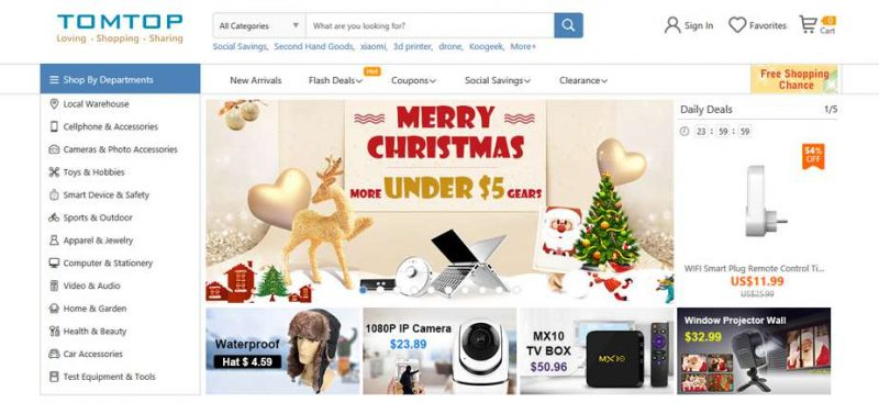 Siti vendita Online Cinesi tomtop