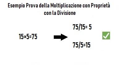 come si fa la prova della moltiplicazione con la divisione