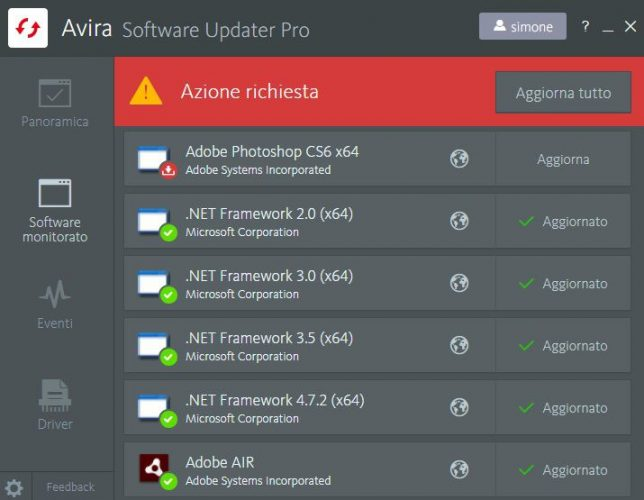 recensione AVIRA antivirus suite aggiornamento 3