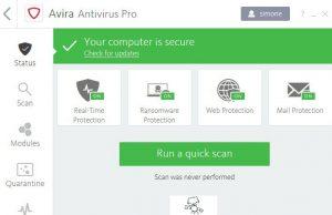 recensione AVIRA antivirus suite -infodrones