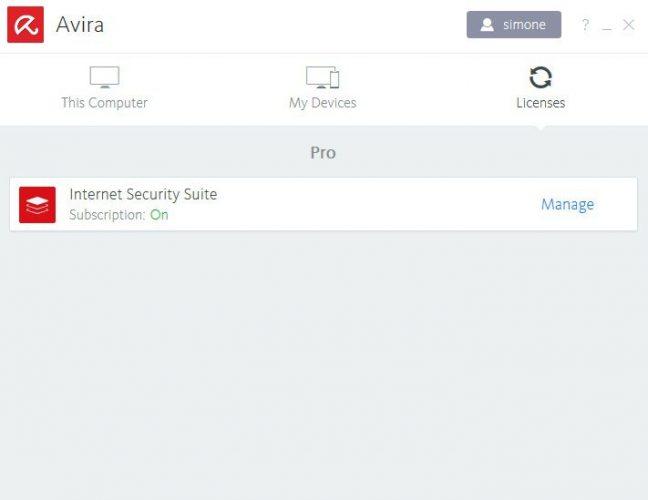 recensione AVIRA antivirus suite-licenses