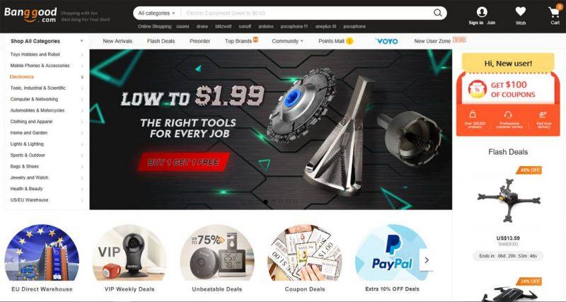 siti cinesi shopping banggood