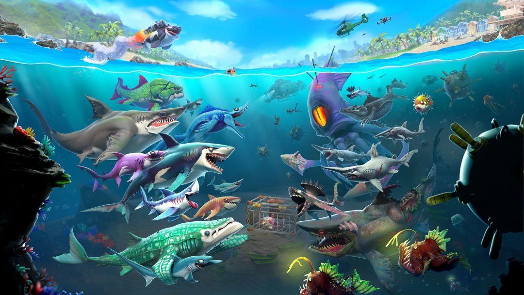 trucchi hungry shark world