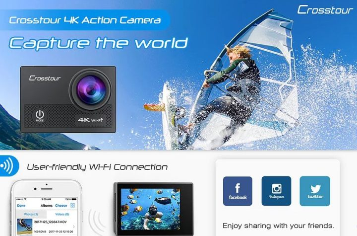 Crosstour 4k 16 MP action camera ct9000