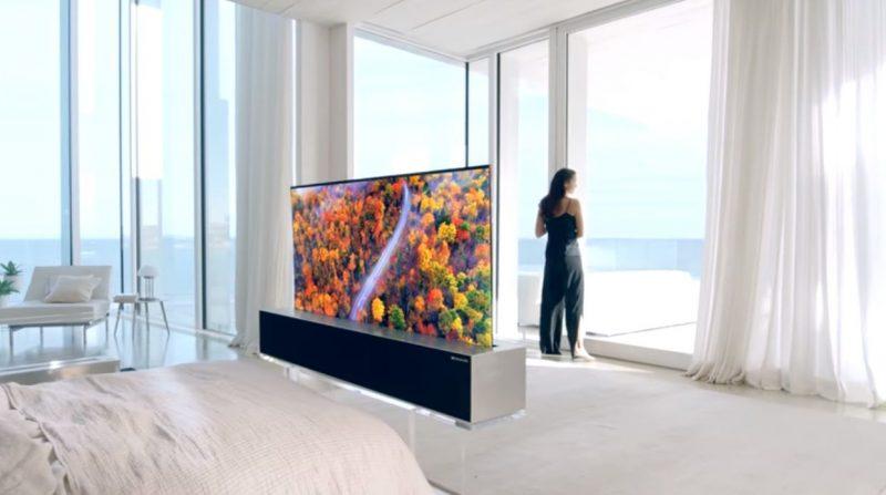 LG Signature Oled TV R-televisore che si arrotola